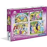 Clementoni 7708 Princesas Disney - Puzzle progresivo, 20-60-100-180 piezas (Clementoni 7708)