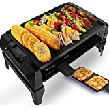 Non-Stick Electric Teppanyaki Griddle BBQ Grilling Surface 2 Paddles And Spatulas - Great For A Family Get Together Or Party