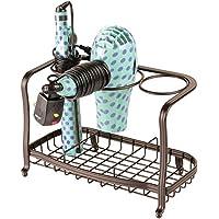 mDesign Soporte para secador de pelo de pie y sin taladro – Soporte para  plancha de d16de4bd479a