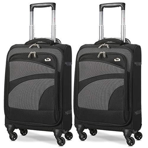 Aerolite Leichter 4 Rollen Handgepäck Trolley Koffer Bordgepäck Reisekoffer Gepäck-Set Genehmigt für Ryanair, easyJet und viele mehr