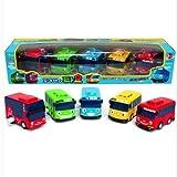 TAYO The Little Bus-5 Pcs(Tayo+Rogi+Gani+Rani+Citu)-Korean Made TV Kids Animation Toy
