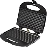 Amazon Brand - Solimo Non-Stick Grill Sandwich Maker (750 watt, Black)