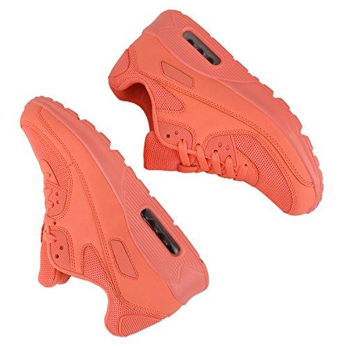 Damen Herren Unisex Sportschuhe Profil Sohle Laufschuhe Fitness Runners VanHill Peach