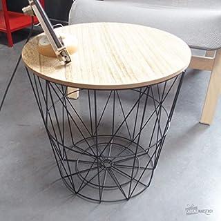 Annibells at Home Modern Metal Wood Side Table