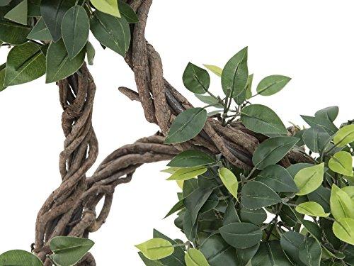 artplants Set 2 x künstlicher Ficus Exotica MIYU mit Naturstamm, 160 cm – Kunstbaum/Dekobaum