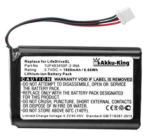 Akku-King Akku ersetzt Palm 1UF463450F-2-INA - Li-Ion 1800mAh - für LifeDrive - 1800mah Li-ion Notebook-akku