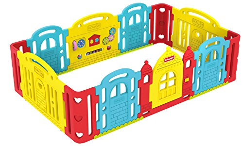 Dwinguler Castle Rainbow Playpen Child Lock Dwinguler Robust STABIL Secure door lock 1
