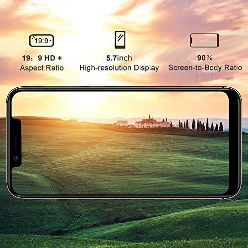 UMIDIGI A3 Pro(2019), 2 Nano SIM + 1 MicroSD Téléphone Portable Débloqué, Smartphone 5,7 Pouces Dual 4G Volte Android 9.0 Pie, 12MP + 5MP Dual Camera, Quad-Core, 3Go RAM+32Go ROM, 3300mAh - Or