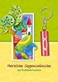 Glückwunschkarte mit Mini-Taschenlampe: Herzliche Segenswünsche zur Erstkommunion