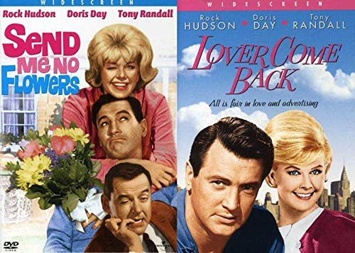 Rock Hudson and Doris Day 2-Movie Bundle - Comedy Romantic Classics Lover Come Back & Send Me No Flowers DVD Set