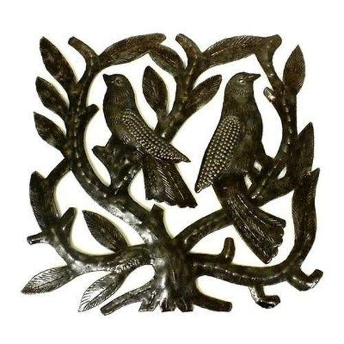 Croix des Bouquets Haitian Steel Drum Tree of Life Sq 8 inch Wall Art by Croix des Bouquets (Drum Art Steel Haitian)