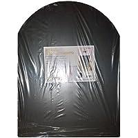 pedana salvapavimento nera stufa a legna e pellet cm. 60x80