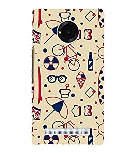 Modern Art Design Pattern Bicycle Ice-cream 3D Hard Polycarbonate Designer Back Case Cover for YU Yunique