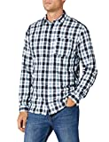 JACK & JONES Herren Freizeithemd JCOCHECK Shirt L/S ONE Pocket WHS, Mehrfarbig (White Fit: Slim), Medium