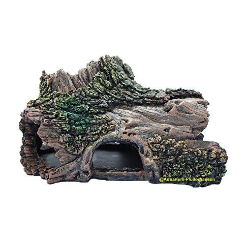 Terrarium/Aquarium Dekoration, Deko Baumstamm, Wurzelhöhle, Reptilienversteck 27x17,5x15 cm
