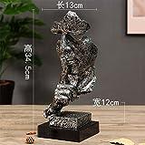 RUIX Einfache Moderne Kreative Handwerks-Dekorations-Büro-Wohnzimmer-Grafik-Verzierungs-Skulptur,Silver