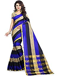 Jay Fashion Women's Emblished Dailywear Banarasi Cotton Silk Saree With Blouse`