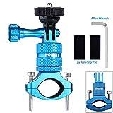 Homeet Actioncam Supporto per Manubrio Bicicletta in Alluminio di Montaggio del Supporto Girevole a 360 gradi, per GoPro SJCAM Garmin Virb per 20mm-35mm Manubrio  (Blu)