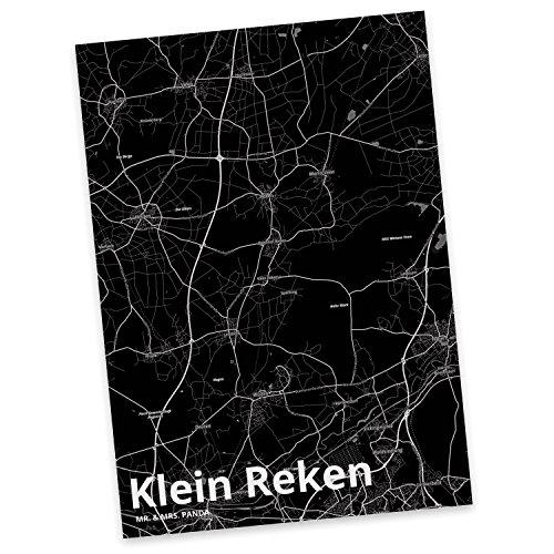 Mr. & Mrs. Panda Postkarte Stadt Klein Reken Stadt Black - Stadt Dorf Karte Landkarte Map Stadtplan Sprüche, Karte, Fan, Fanartikel, Souvenir, Andenken, Fanclub, Stadt, Mitbringsel