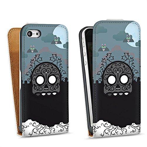 Apple iPhone 6 Housse Étui Silicone Coque Protection Crâne Cimetière Tombe Sac Downflip blanc