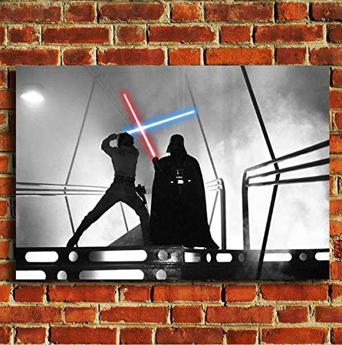 Box Prints Luke Skywalker Darth Vader Star Wars Film Leinwand Wand Kunstdruck Bild groß klein