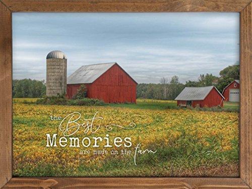 P. Graham Dunn Memories Made on Farm Red Barn Wanddekoration, 40,6 x 30,5 cm, Kiefernholz gerahmt