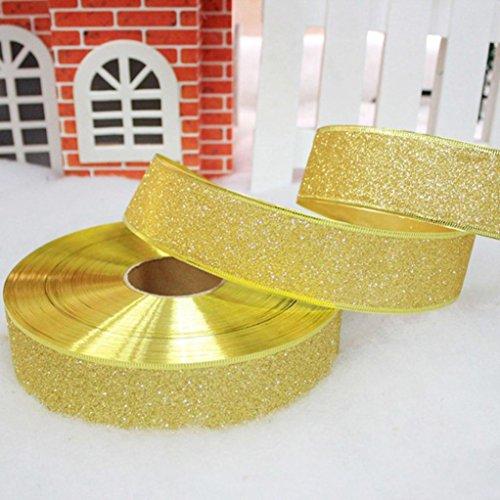 hten Satinband Hochzeitsfest Dekoration Einladung Geschenkverpackung 200cm * 5cm (gold) ()