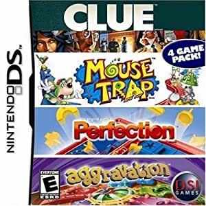 4 Game Fun Pack - Clue/Mouse Trap/Perfection/Aggravation Game DS