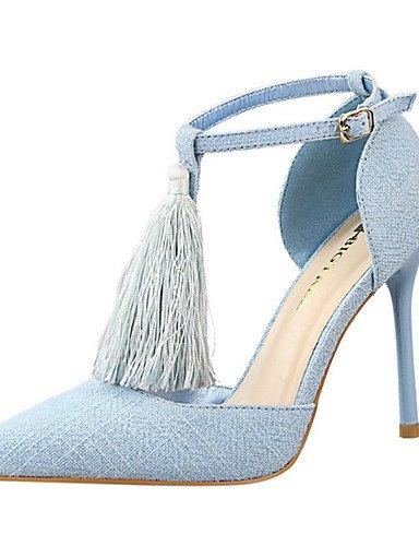WSS 2016 Chaussures Femme-Soirée & Evénement-Noir / Bleu / Rouge / Gris / Kaki-Talon Aiguille-Talons-Talons-Velours blue-us8 / eu39 / uk6 / cn39