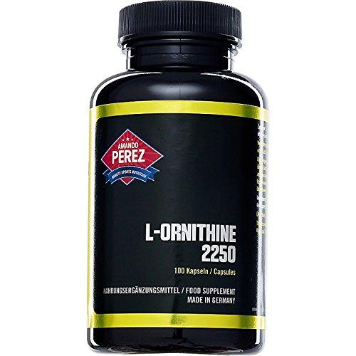 L-Ornithin - 2250 mg pro Dosis - 100 Kapseln - hochdosierte Aminosäure