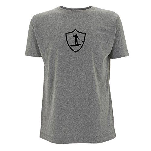 SUP, Stand Up Paddle, Stand up Paddling T-shirt mit ÖKO TEX 100 Druck Melange Grey XXL