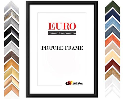 EUROLine35 Bilderrahmen im DIN A0 Format für 84,1 cm x 118,9 cm Bilder, Farbe: Alu Criss Cross, MDF Holzrahmen Maßanfertigung inkl. entspiegeltem Acrylglas und MDF Rückwand, Rahmen Breite: 35 mm, Außenmaß: 89,9 cm x 124,7 cm
