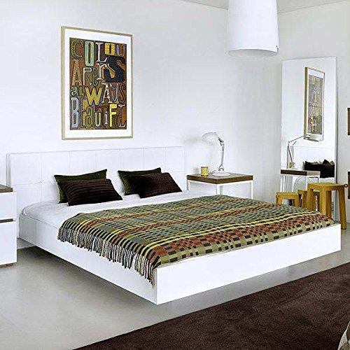 lit blanc 160. Black Bedroom Furniture Sets. Home Design Ideas