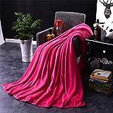 JUNDY Flauschig-weiche Kuschel-Decke Wohndecke Sofadecke Bettüberwurf Sofa Decke erhältlich Einfarbig Flanell Vier Saison Decke Farbe 2 150 * 200 cm