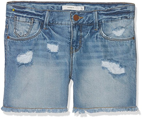 NAME IT Mädchen Nitbaran Reg Dnm Shorts Lmtd, Blau (Light Blue Denim), Gr. 158 (Jeans Shorts Mädchen)