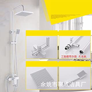 Shower Shower Set All-Space Aluminum Shower Panel Concealed Mixing Valve Bathroom Water Saving Sprinkler