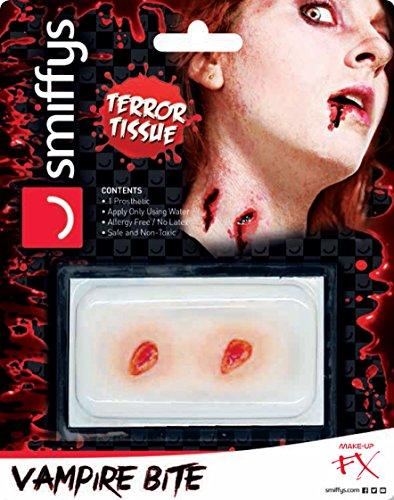 Smiffys 44970 - Unisex Horror Vampir Bisswunde, Wasserlöslich, frei von Allergien und Latex, One Size, rot