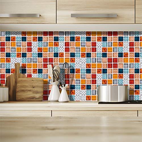 Mosaikfliesen Wandaufkleber Serie Küche Bad Restaurant Dekoration Oberflächenverkleidung Fliesenaufkleber PE Schaum Wandaufkleber ABsoar