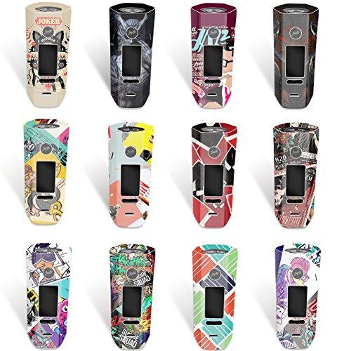 Preisvergleich Produktbild DIY-24H - Aufkleber für Wismec Reuleaux RX 2 / 3 Akkuträger,  Mod,  Skin,  Wrap,  Sticker,  Schutzfolie laminiert (NO. 12)