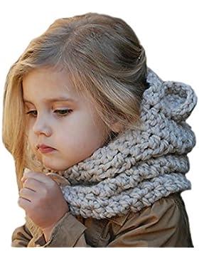 Estilo de la historieta del sombrero,SunnyJenny Fox mantón sombrero y la bufanda del invierno del otoño hacen...