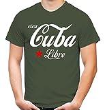 uglyshirt87 Viva Cuba Libre Männer und Herren T-Shirt | Spruch Che Guevara Geschenk (XL, Olive)