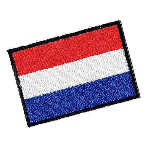 Lucky Patches, Aufnäher, Iron on Patch, Applikation, Fahne, Flagge, Wimpel - Niederlande, Nederland, Holland