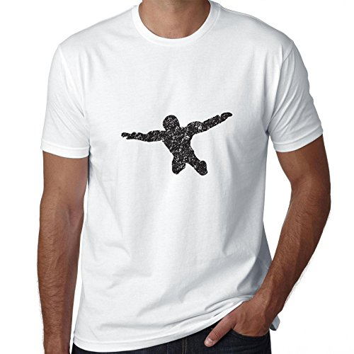 Awesome Sky Diving Silhouette In Free Fall Men's T-Shirt