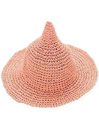 Leisial Sombrero Gorra Paja de la playa Gorro de Viaje Protector Solar  Sombrero de Sol Respirable 7f245207348