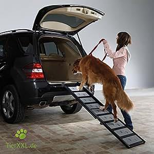 TierXXL.de WalkUp Rampe en aluminium pour chien Longueur ajustable de 110 à 185 cm Largeur 43 cm