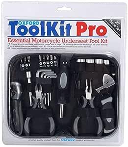 Oxford Moto Toolkit Essential Motorrad Werkzeugset Für Motorräder Motorroller Tool Kit Pro 27 Stück Auto