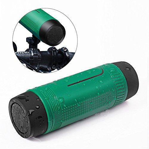 Bluetooth Lautsprecher Fahrrad Stereo Speaker - Yarrashop 3 in 1 Bluetooth 4.1 Bike Lautsprecher Tragbare Subwoofer mit Power Bank Wiederaufladbar + LED Licht + Bike Mountain Brackets 15 Stunden Wiedergabedauer für Outdoor-Sport (Subwoofer 15 Paket)