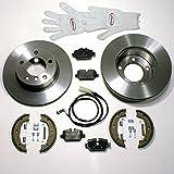 Autoparts-Online Set 60005410 Bremsscheiben/Bremsen Set + Bremsbeläge + Backen + Zubehör für Hinten/für die Hinterachse