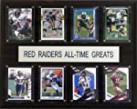 Eight of the greatest Texas Tech Red Raiders stars are featured on this 12'' X 15'' cherry wood plaque. The players are presented on genuine licensed trading cards from different manufacturers making this a perfect piece to display in an office, recr...