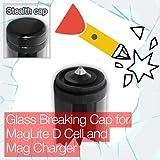 Tasche Unauffälliger Glas Breaking Ende/Tail Cap Maglite D Cell Mag Charger Taschenlampe/Taschenlampe